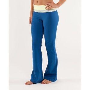 Lululemon Blue & Yellow Astro Pant Size 4